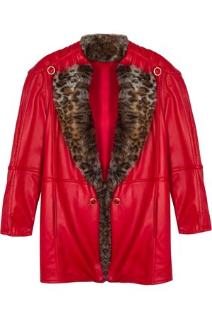 Women's Red Leather Norah Jacket Medium Paloma Lira