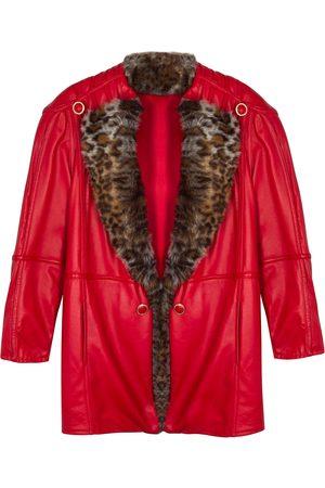 Women's Red Leather Norah Jacket Small Paloma Lira