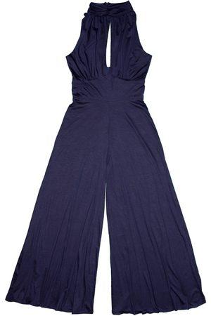Women Jumpsuits - Women's Artisanal Blue Tencel Sona Jumpsuit Medium Tramp In Disguise