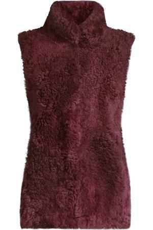 Pologeorgis Patchwork Shearling Vest