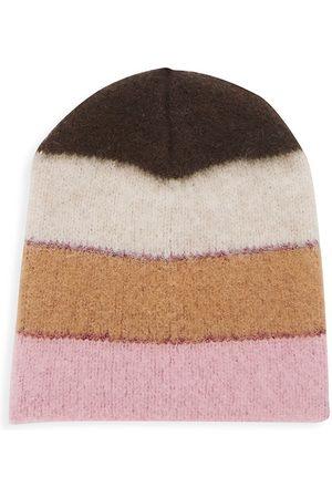 JOCELYN Lurex Wide Striped Hat