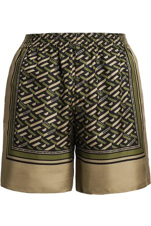 VERSACE Silk Monogram Shorts