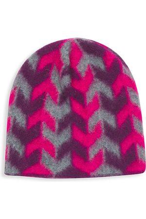 JOCELYN Arrow Jacquard Brushed Alpaca-Blend Hat