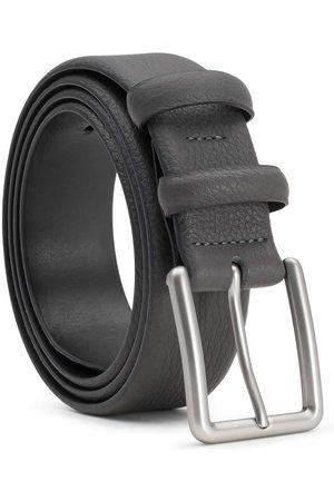 Men's Carbon Neutral Grey Brass Handmade Leather Belt Javier 40in Dalgado