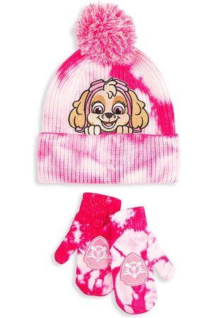 Andy & Evan x PAW Patrol Little Girl's 2-Piece Paw Patrol Tie-Dye Hat & Mitten Set
