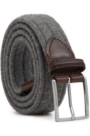 Men's Carbon Neutral Grey Brass Elastic Braided Wool Belt Giovanni 42in Dalgado