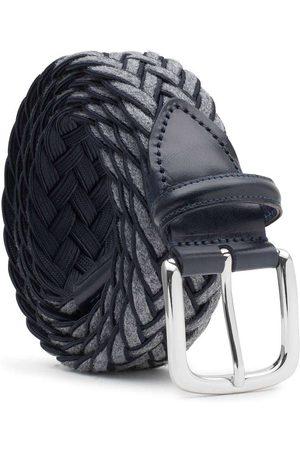 Men's Carbon Neutral Grey Brass Braided Wool Belt /blue Federico 36in Dalgado
