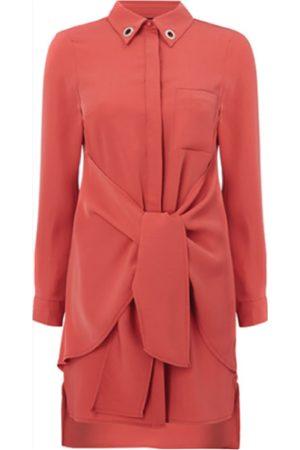 Women's Pink Fabric The Spoke Guava Shirt Dress XL Whyte Studio
