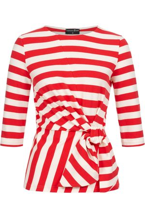 Women's Non-Toxic Dyes White Luna Wrap Top Red Striped XS Marianna Déri