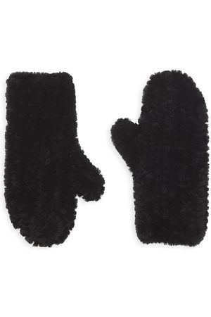 Pologeorgis Shearling Knitted Mittens
