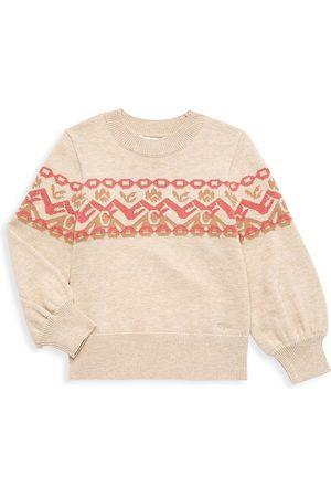 Chloé Little Girl's & Girl's 'C' Logo Jacquard Sweater