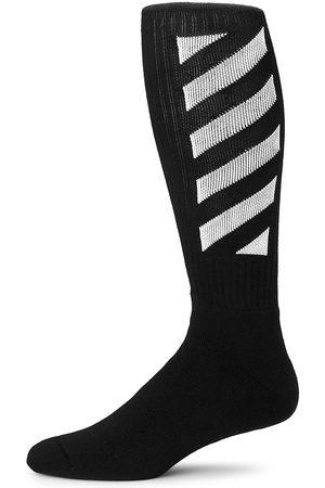 Off-White Diagonal Mid Length Socks
