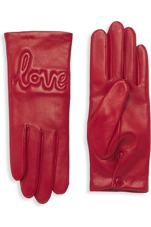 AGNELLE Lambskin With Love Gloves