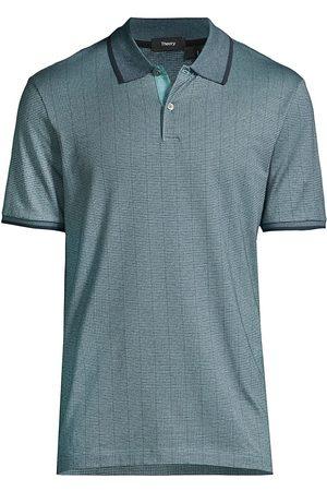 Theory Banded Short-Sleeve Polo Shirt