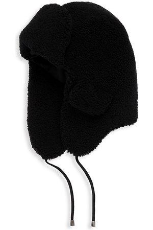 Pologeorgis Curly Shearling Trapper Hat