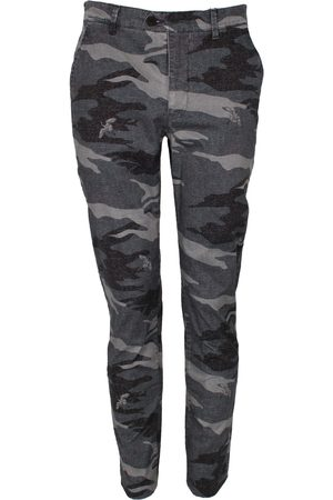 Men Chinos - Men's Black Cotton Jack Crane Camo Charcoal 32in Lords of Harlech
