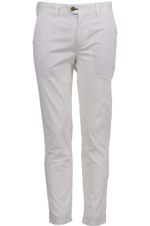 Men Chinos - Men's White Cotton Jack Lux 34in Lords of Harlech