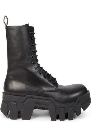 Balenciaga Bulldozer Low-Cut Leather Mini Boots