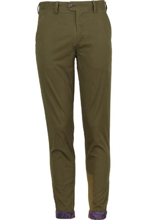 Men Chinos - Men's Olive Cotton Jack Lux 35in Lords of Harlech
