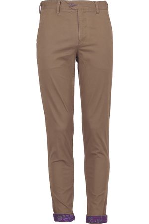 Men Chinos - Men's Brown Cotton Jack Lux Tan 35in Lords of Harlech