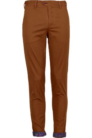 Men Chinos - Men's Brown Cotton Jack Lux Whiskey 35in Lords of Harlech
