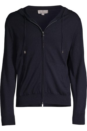 Canali Wool Zip-Up Hoodie Sweatshirt