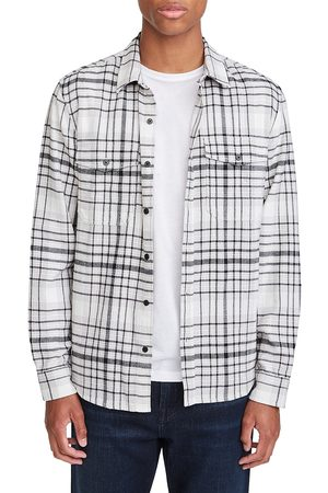 7 for all Mankind Double Chest Pocket Plaid Button-Down Shirt