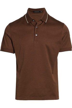 Ermenegildo Zegna Chambray Effect Polo Shirt