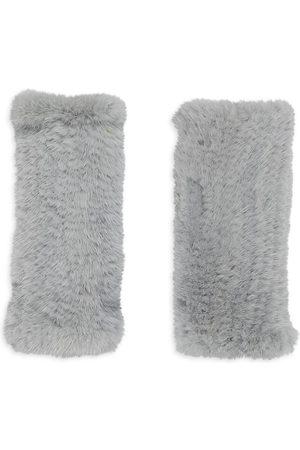 Pologeorgis Knitted Mink Fingerless Gloves