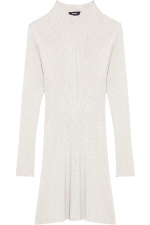 THEORY Wool Rib-Knit Sweaterdress
