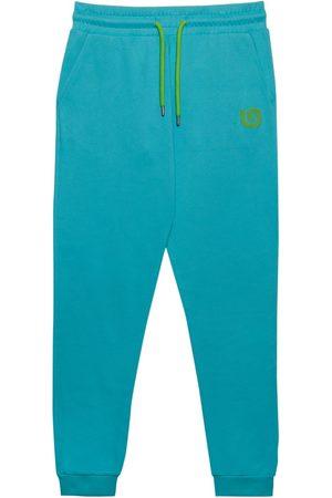 Men Sweatpants - Organic Blue Cotton Men's G Collection Joggers Large That Gorilla Brand