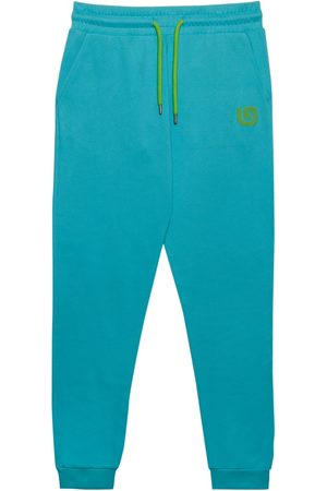 Men Sweatpants - Organic Blue Cotton Men's G Collection Joggers Medium That Gorilla Brand