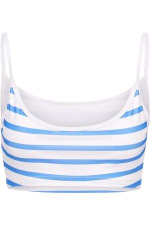 Women's Recycled Blue Seattle Top - Ocean Stripe Large OOKIOH