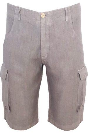 Men's Recycled Grey Cotton Archimedes Cargo Bermuda Medium Haris Cotton