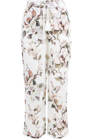 Women Pajamas - Women's Low-Impact Pink Cotton Magnolia Organic Pyjama Bottoms XL Wallace Cotton