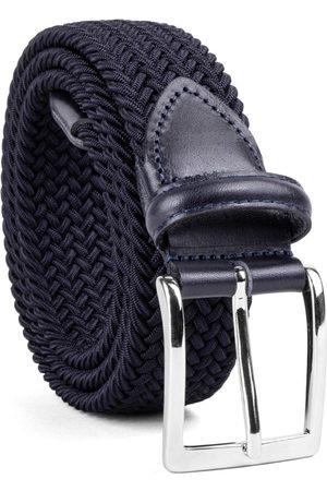 Men Belts - Men's Carbon Neutral Grey Brass Braided Viscose Belt Enrico 44in Dalgado