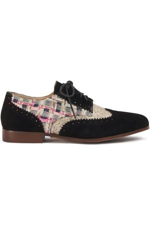 Women Brogues - Women's Low-Impact Natural Leather Brighton Nutmeg Shoes 4 UK Yull Shoes