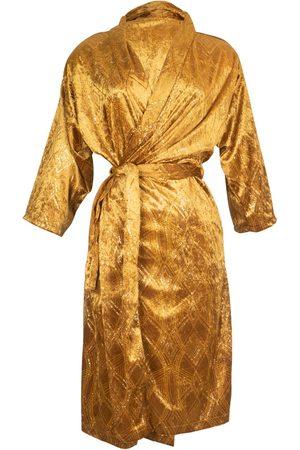 Women Kimonos - Women's Artisanal Gold Tigers Eye Shimmer Koi Kimono Small Jennafer Grace