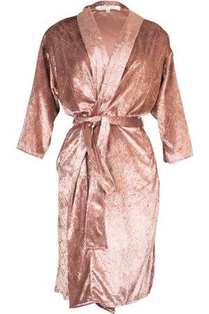 Women Kimonos - Women's Artisanal Pink/Purple Lilac Shimmer Koi Kimono Small Jennafer Grace