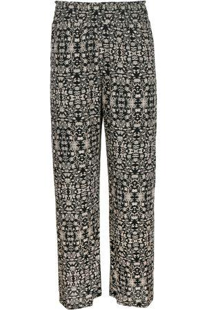 Women Sweats - Women's Artisanal Black High Waisted Lounge Pant Medium Sur La Côte