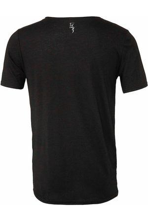 Men Short sleeves - Men's Black Cotton Raw Neck Short Sleeve Medium Ocean Rebel