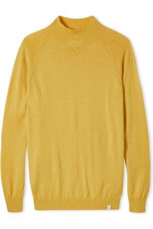 Men Dungarees - Men's Non-Toxic Dyes Yellow/Orange Wool Beauford Funnel Neck Saffron Large Peregrine