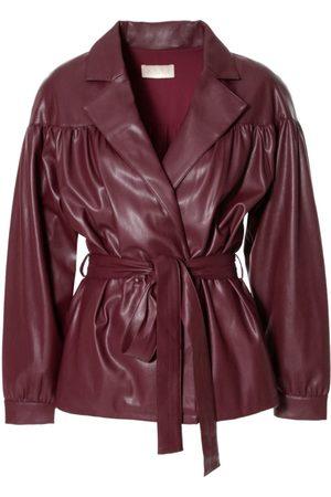Women Leather Jackets - Women's Brown Leather Patrizia Malaga Wine Jacket Large Aggi