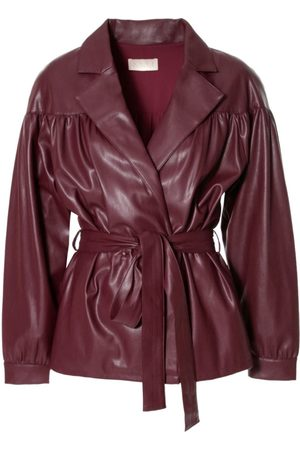 Women Leather Jackets - Women's Brown Leather Patrizia Malaga Wine Jacket Medium Aggi