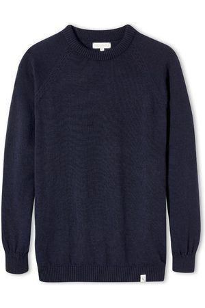 Men Dungarees - Men's Non-Toxic Dyes Navy Wool Beauford Crew XXL Peregrine