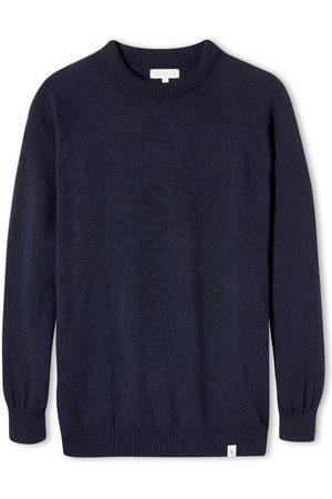 Men's Non-Toxic Dyes Navy Wool Beauford Crew XL Peregrine