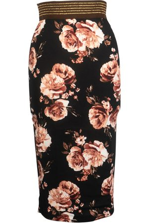 Women's Artisanal Rose Antique Pencil Skirt XS Jennafer Grace