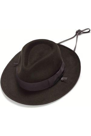 Men Hats - Artisanal Grey Mens Felt Fedora 54cm Justine Hats