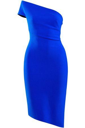 Women Asymmetrical Dresses - Women's Artisanal Asymmetrical Dress With Extended Wrapped Shoulder XL L'MOMO