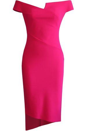 Women's Artisanal Pink/Purple Fabric Essential Off-Shoulder Dress XS L'MOMO